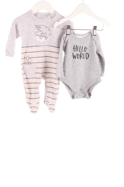 Baby Samtstrampler und Langarmbody