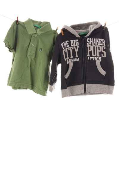 Polo-Shirt und Hoodie