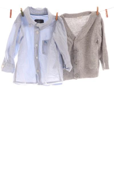 Hemd und Strickjacke