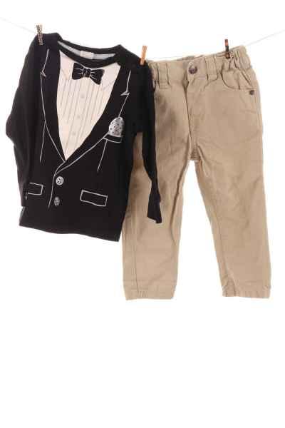 Stoffhose und Langarmshirt
