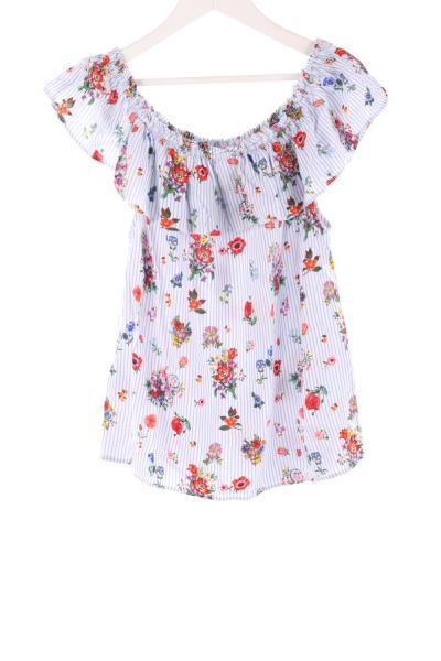 Kinder Off-Shoulder Bluse