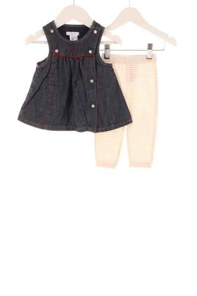 Baby Jeanskleid und Leggings