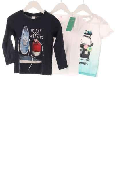 Kinder 3er-Pack Langarmshirt und T-Shirts