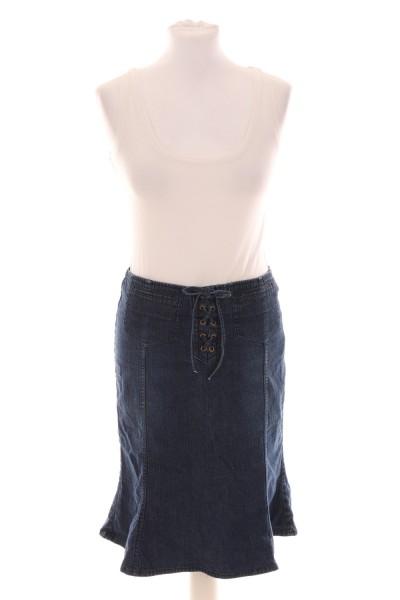 Jeansrock mit Schnürung