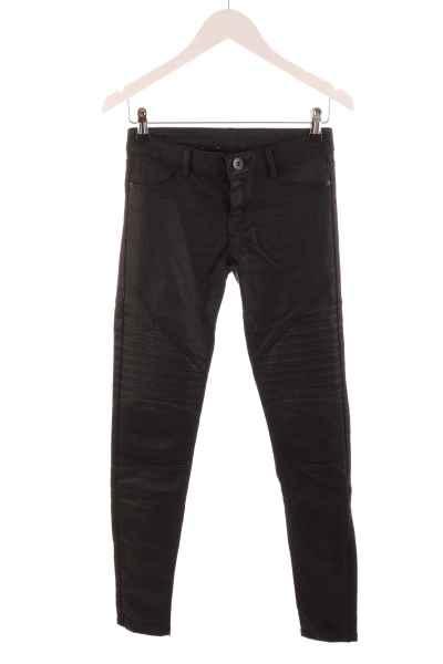 Coated Biker-Jeans