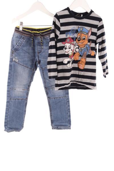 Kinder Jeans und Langarmshirt