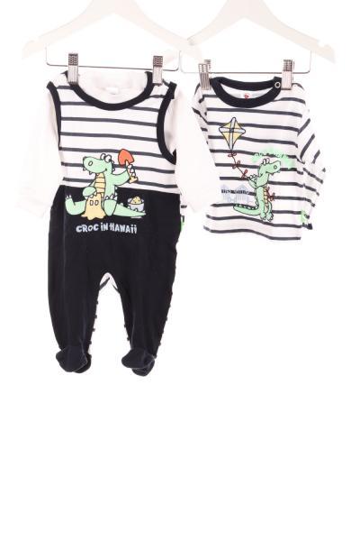 Baby Strampler und 2er-Pack Langarmshirts