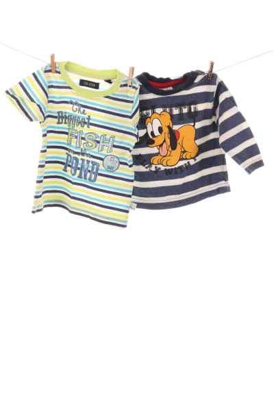 "Langarmshirt ""Pluto"" und T-Shirt"