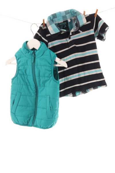 Steppweste und Shirt