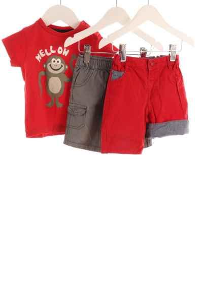Baby 3-teiliges Set T-Shirt und Shorts