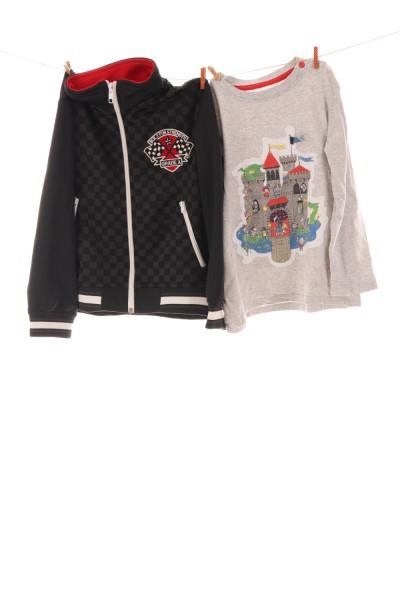 Shirt und Sweatshirtjacke