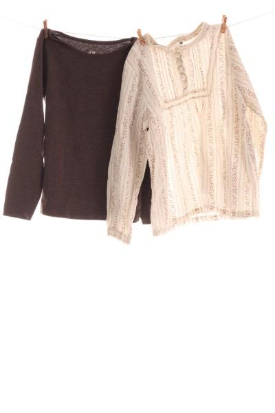 Bluse und Langarmshirt