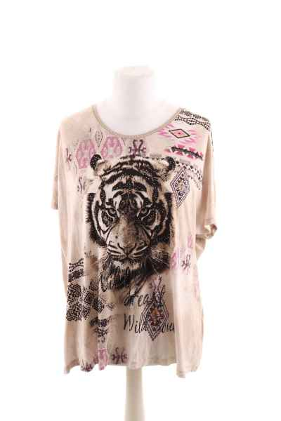 T-Shirt mit Tigerprint