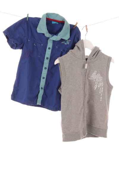 Kurzarmhemd und Hoodie
