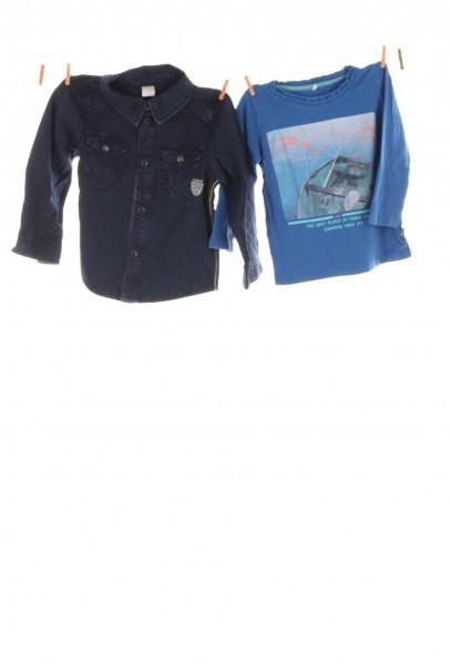 Jeanshemd und Shirt