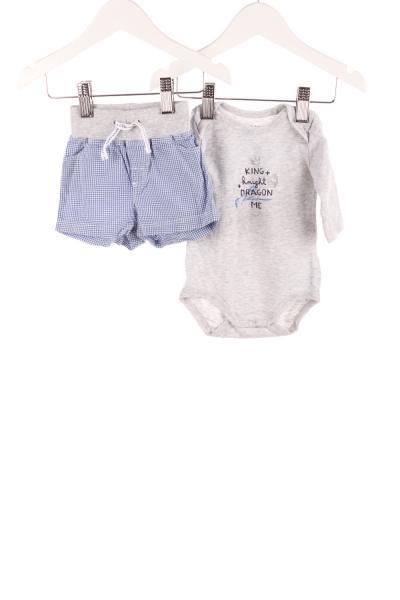 Baby Langarmbody und Shorts