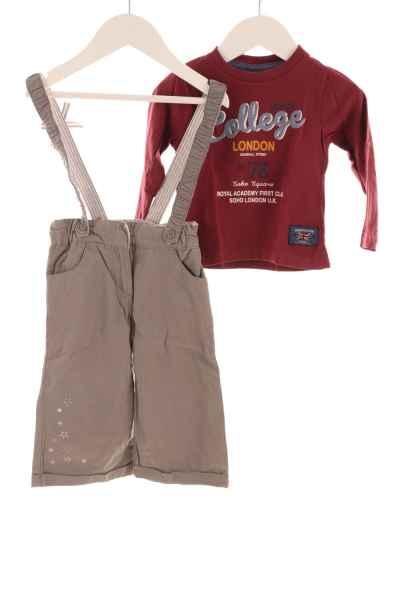 Baby Langarmshirt und Hose mit Trägern