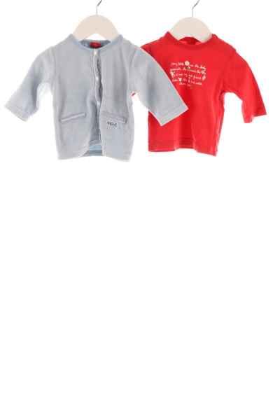 Baby Langarmshirt und Samtweste