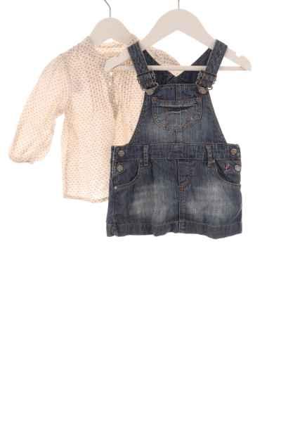 Baby Bluse und Latzkleid