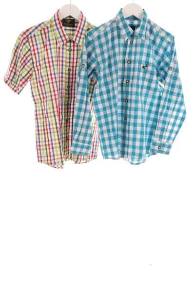 Kinder 2er-Set Trachtenhemden