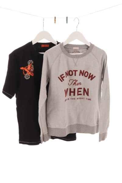 T-Shirt und Pullover