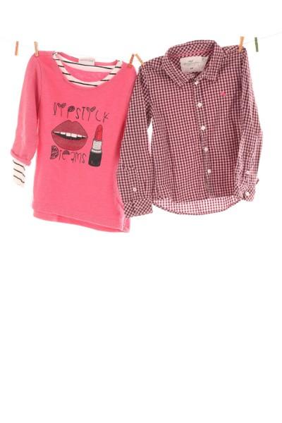 Bluse und Pullover