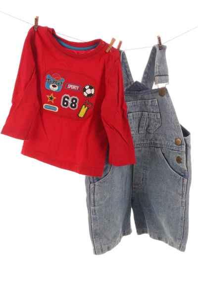 Shirt und Latzhose