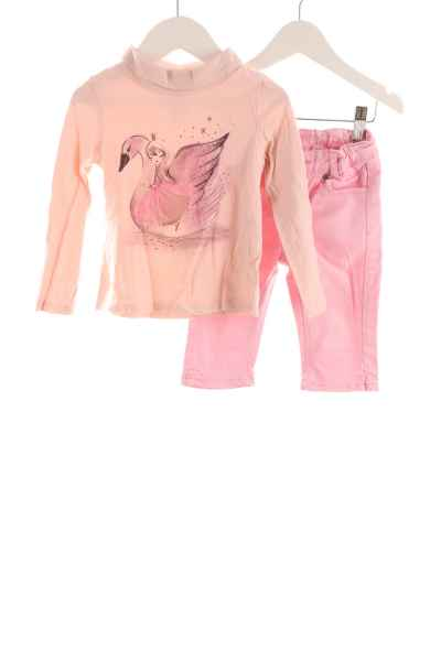 Kinder 3/4-Jeans und Langarmshirt
