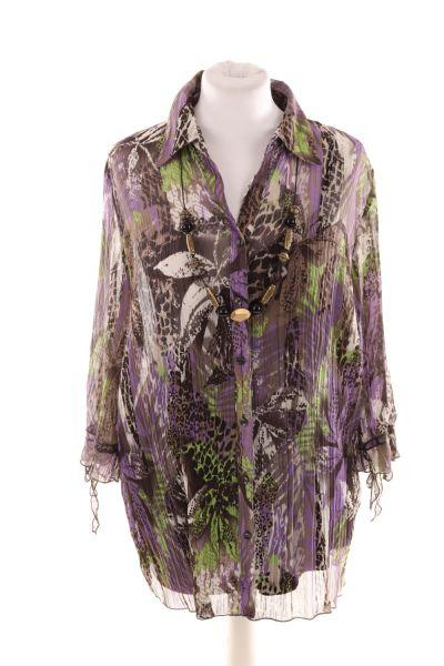 Bluse mit Untertop und Kette