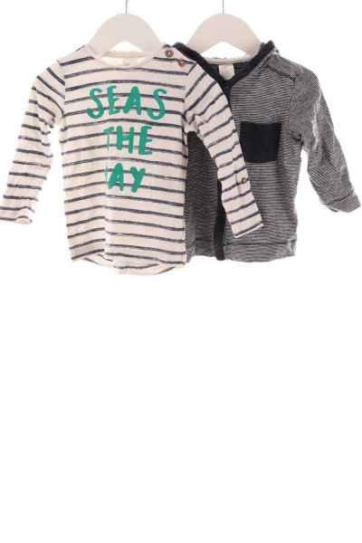 Baby Kapuzenjacke und Langarmshirt