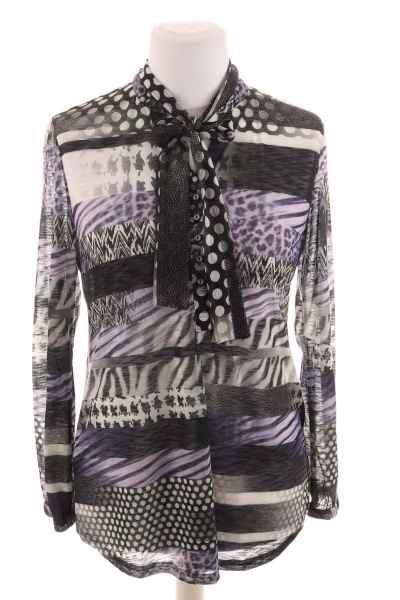 Blusenshirt mit Schalkragen