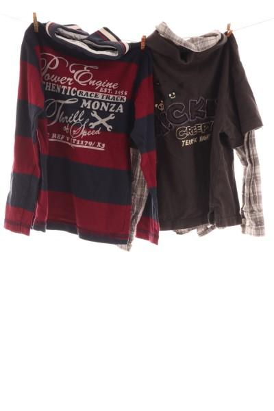 2er Set Langarm- Poloshirts