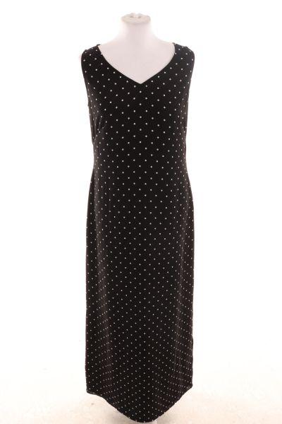 Dots-Kleid mit seitlichem Schlitz