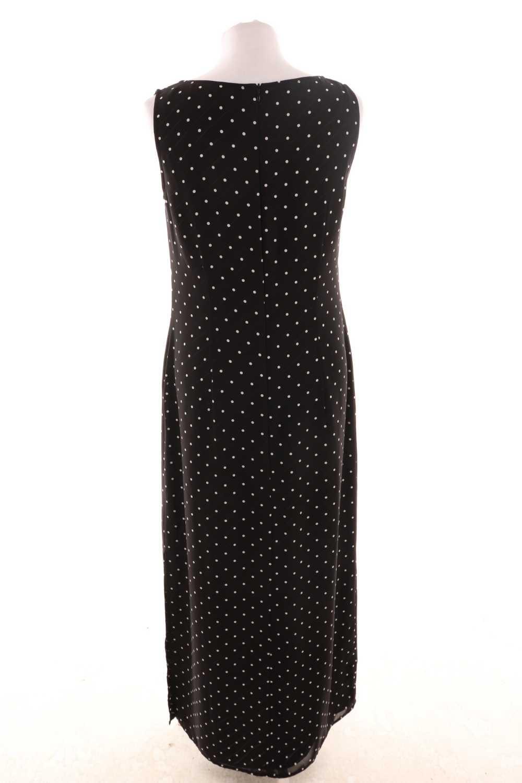 betty barclay dots-kleid mit seitlichem schlitz