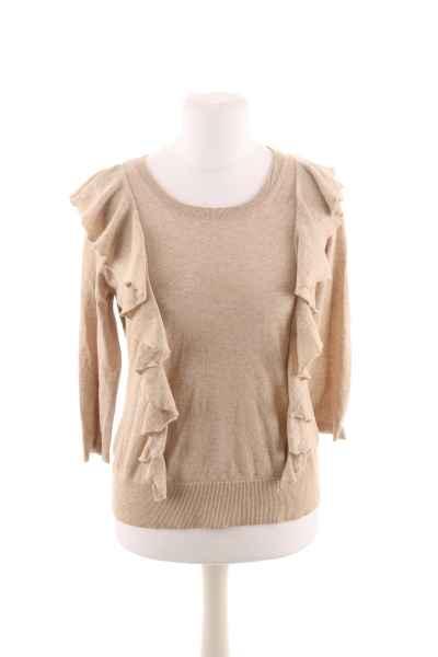 Pullover mit seitlichem Volants